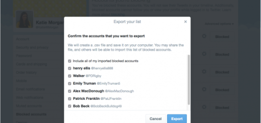 Twitter now lets you share a list of blocked accounts with others
