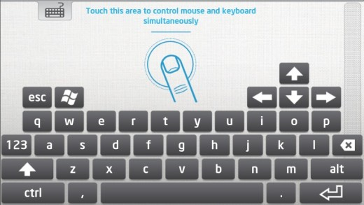 Intel Remote Keyboard screen