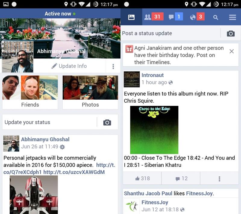 Facebook Lite in action