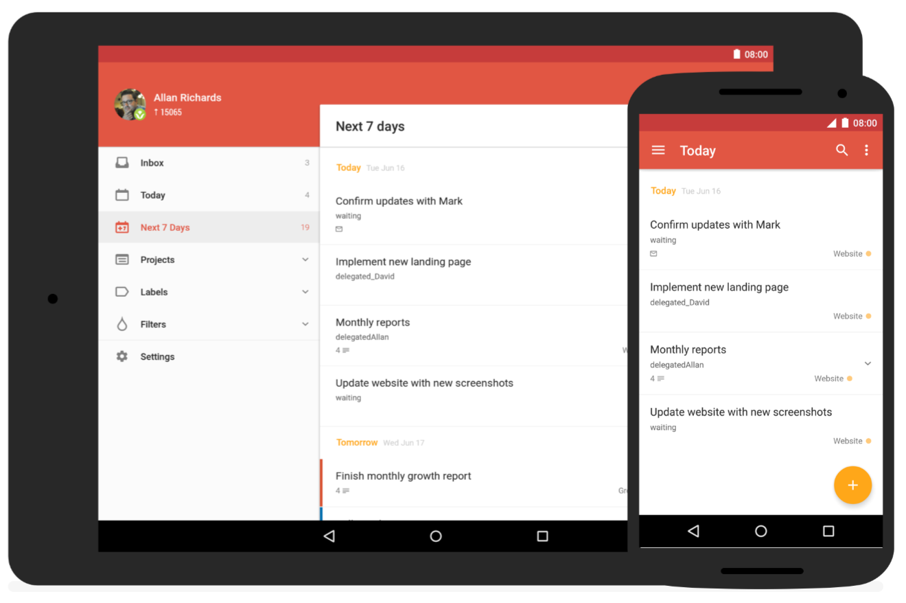 Todoist For Android Gets A Huge Material Design Update