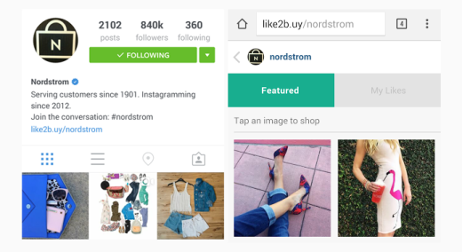 nordstrom-instagram-and-landing-page