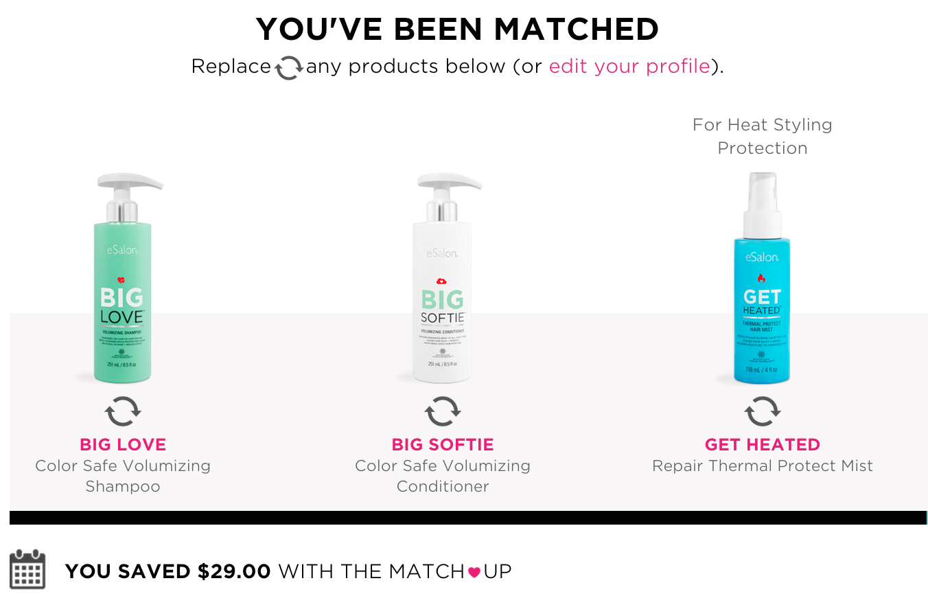 the match up hair products