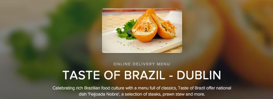 Taste of Brazil in Dublin is on Deliveroo and in @brokenbottleboy's belly