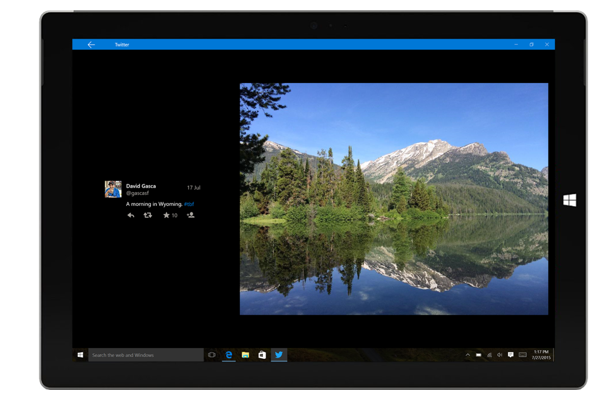 Twitter just released a native Windows 10 app
