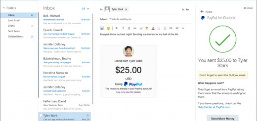 Microsoft is rolling out Uber, PayPal and Evernote add-ins for Outlook