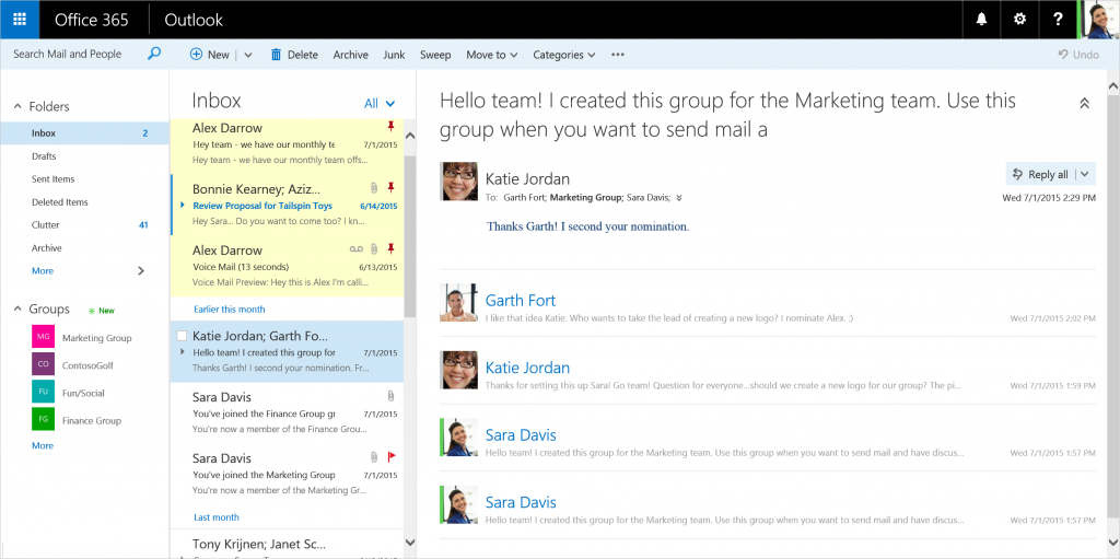 The Microsoft Outlook web client now has a cleaner UI and tons of new tools