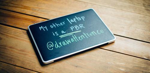 Turn your laptop lid into a chalkboard, write hipster slogans, annoy the whole coffee shop