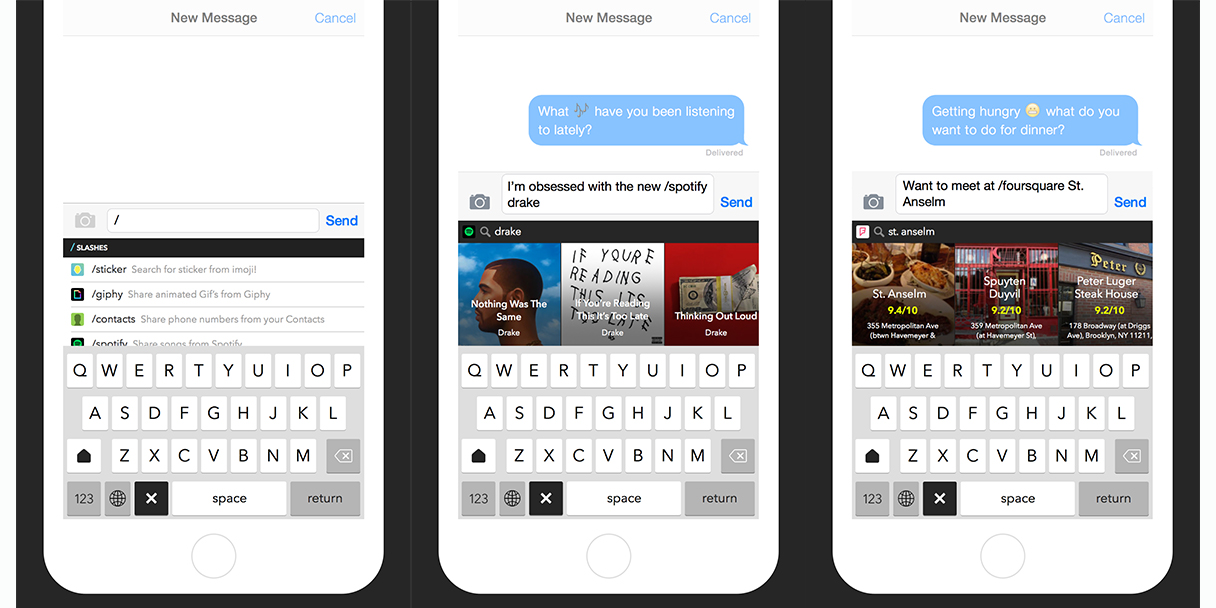 Slash Keyboard for iOS partners with popular Web services to share just about anything