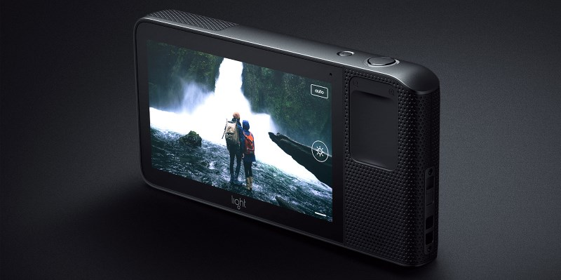 A 5-inch touchscreen on the back lets you adjust controls like focus and exposure