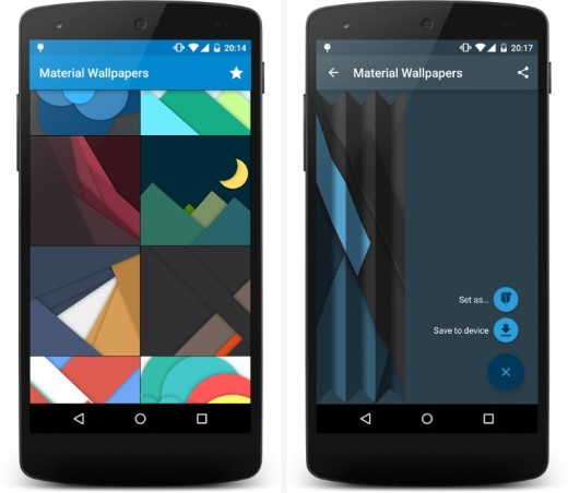 Choose from the large collection of Material Design-inspired backgrounds or generate your own just by entering your name