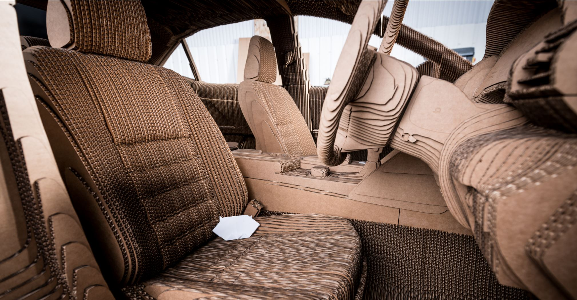 Lexus Built An Awesome Full-size Electric Car Out Of Cardboard