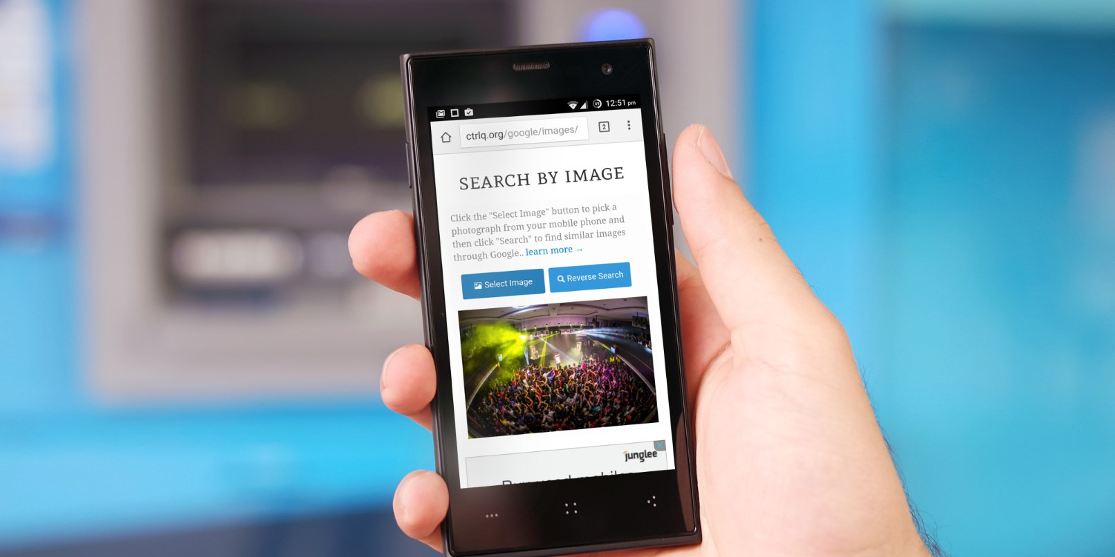Use Google reverse image search on your phone