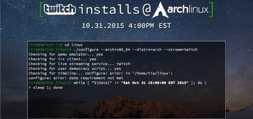 Twitch Installs Arch Linux