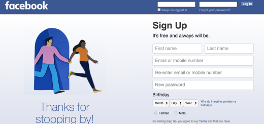 Facebook, what's up with that weird graphic that shows up after you log off?