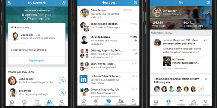 Linkedin used for dating
