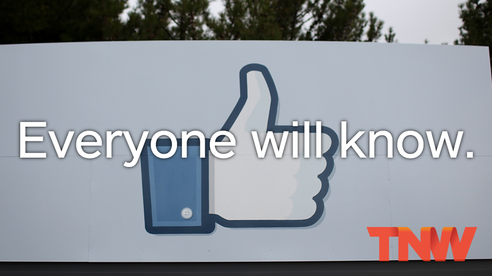 Facebook temporarily bans the phrase 'Everyone will know'