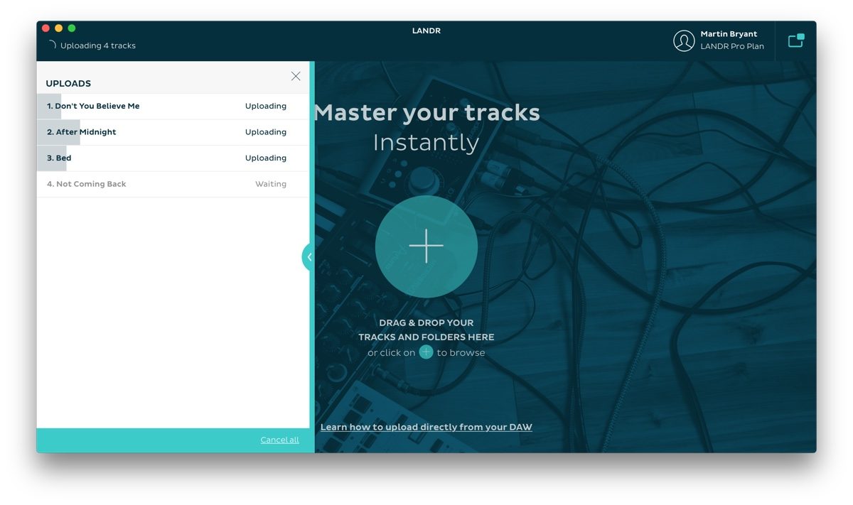 Landr's desktop app