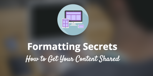 formatting for sharable content