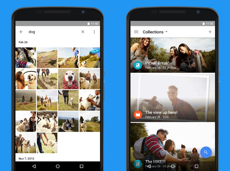 Google Photos intelligently organizes, backs up and index your pictures