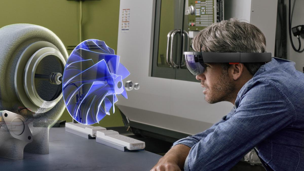 HoloLens 3D CAD design Microsoft