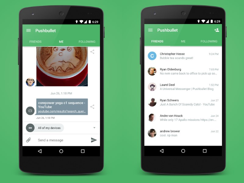 Pushbullet now lets you chat with your contacts from messaging apps as well as SMS on your desktop