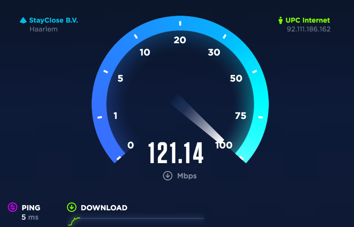 picture of speedtest speed meter