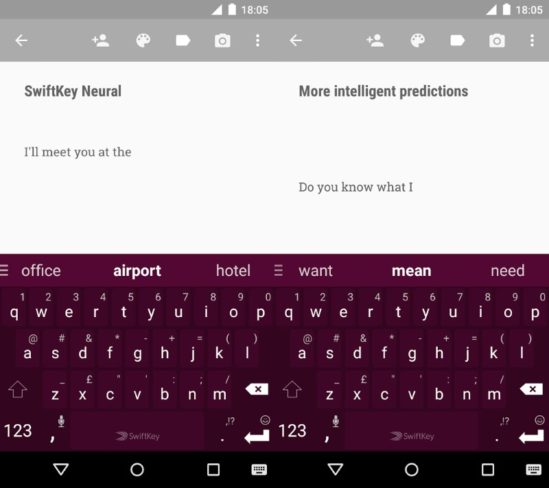 SwiftKey's Neural keyboard smartly predicts the next word as you type