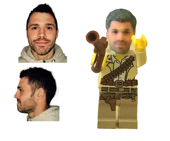 All you need for your 3D printed Lego minifigure head is two photos of yourself