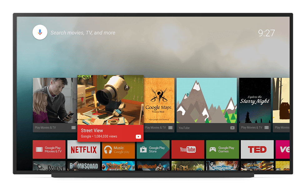 Android TV Home Screen Framed