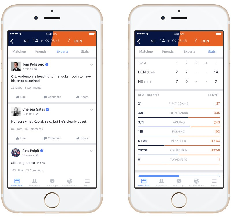 Facebook Sports will let you catch up on stats and updates and discuss them with friends