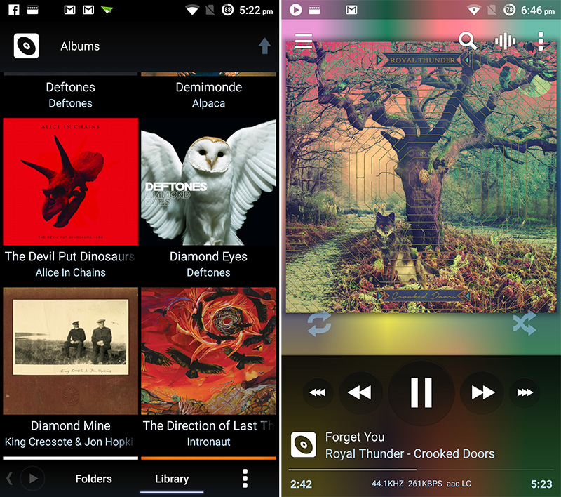 Poweramp packs a ton of features into a spartan interface