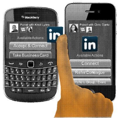LinkedIn device pairing patent