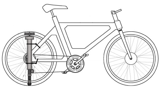 Fod bicycle support patent