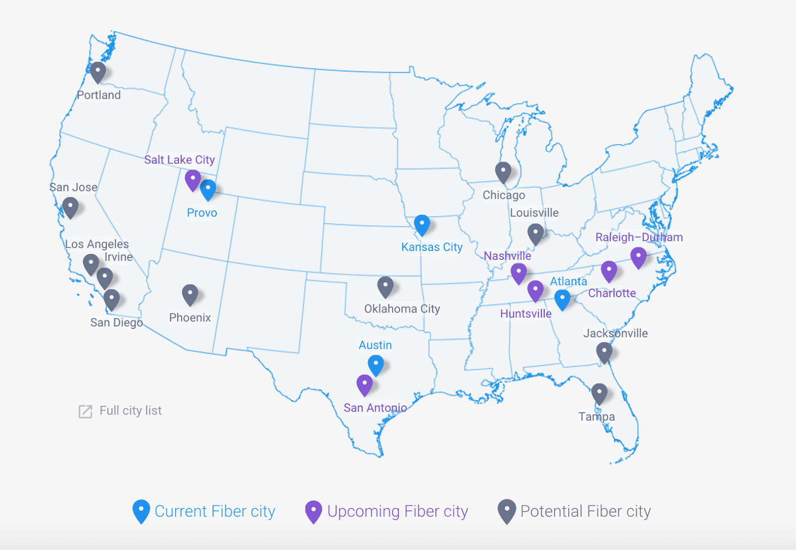 Google Fiber May Never Come To Portland - Portland on us map
