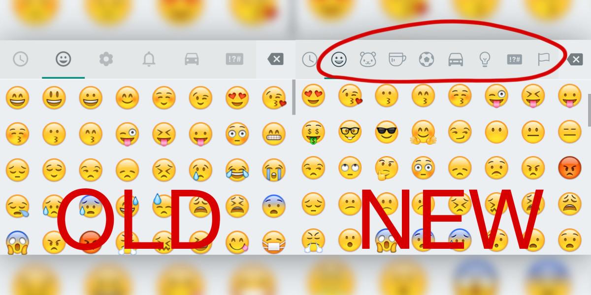 Old New Emoji WhatsApp