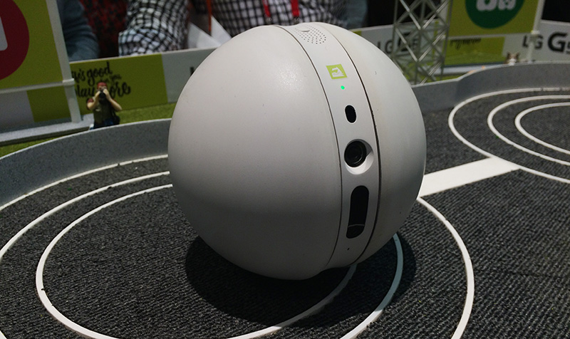 The Rolling Bot can keep an eye on your house, entertain your pets and even turn on your AC