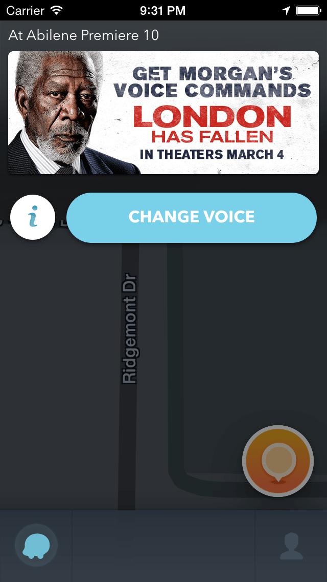 Waze 0 Stop Takeover Screen