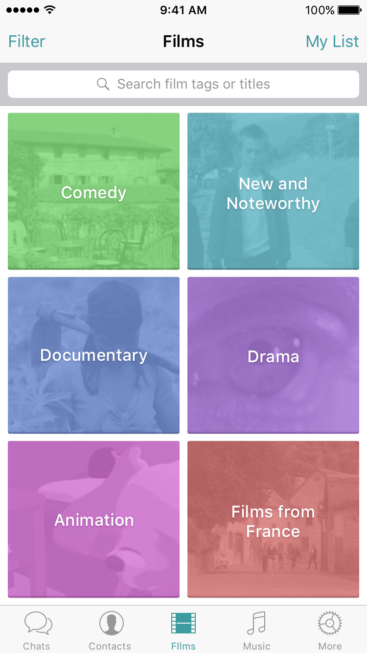 iOS-Film-Genres
