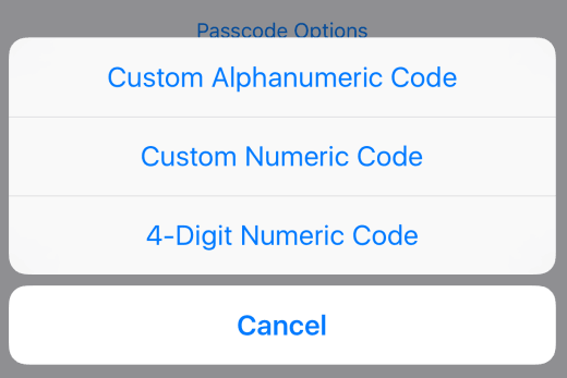 passcode-options