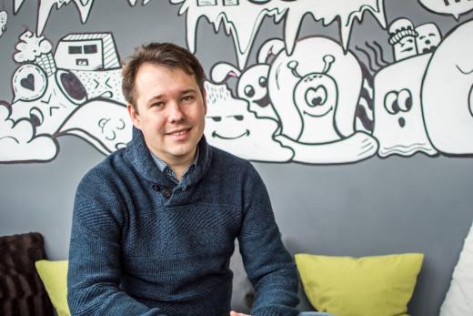 Maksym Pecherskiy in PromoRepublic office in Kyiv