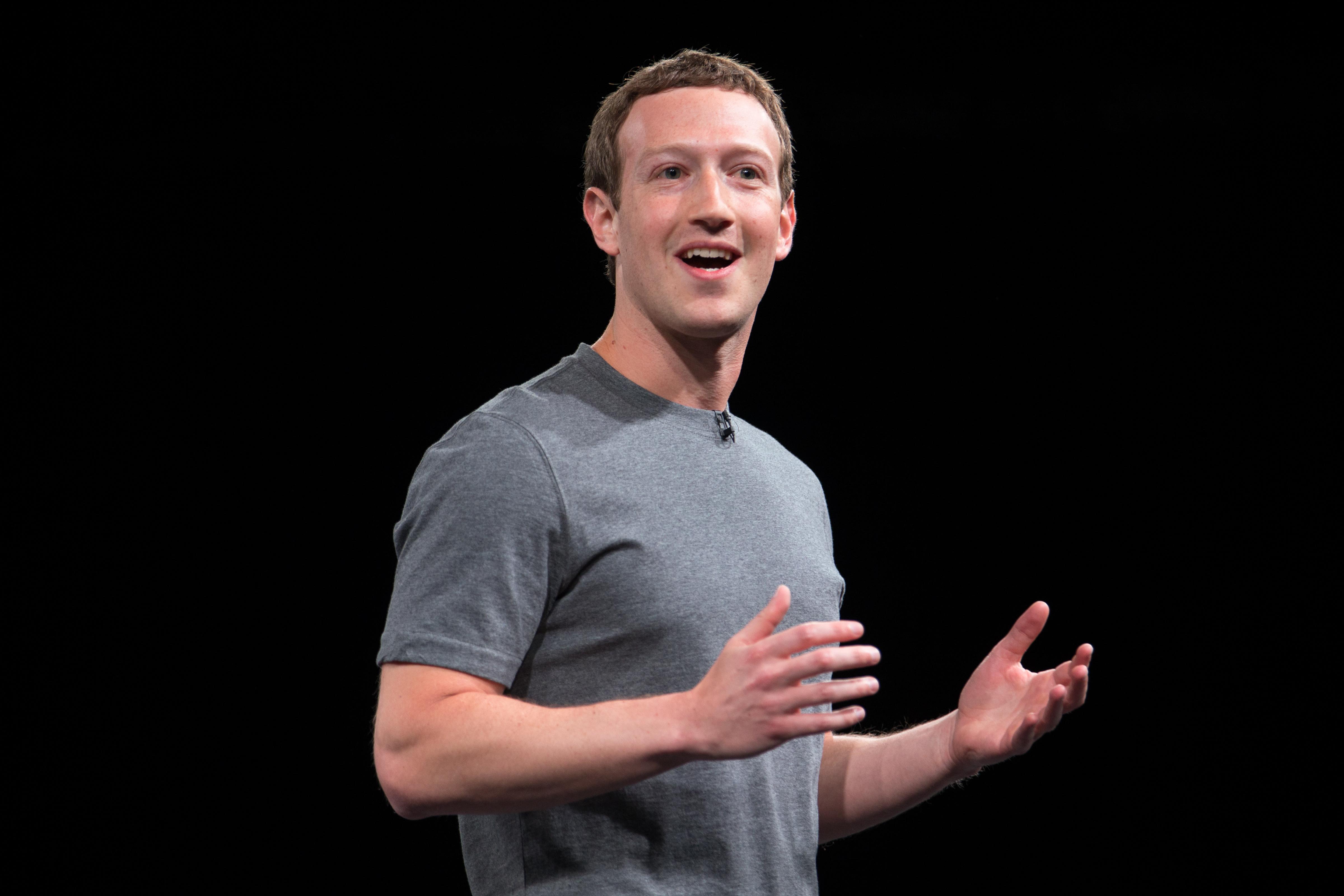 Facebook CEO Mark Zuckerberg at Mobile World Congress 2016.