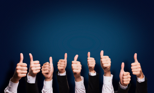 thumbs up, customer success, client happiness