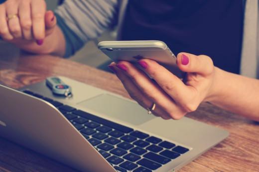 iphone, tech, woman, laptop, apple