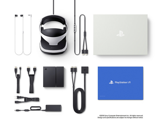 All that's included with the PlayStation VR