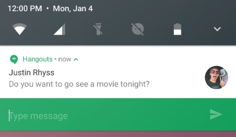 Direct Reply Android N