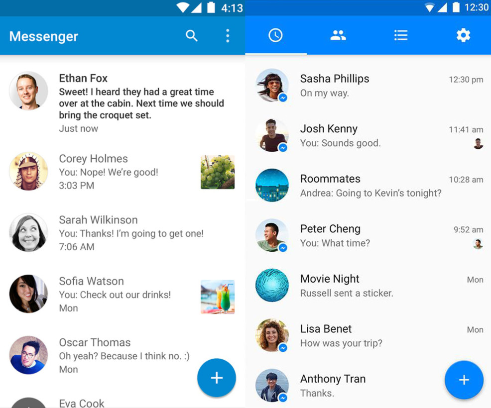 new messenger update how to end voice message