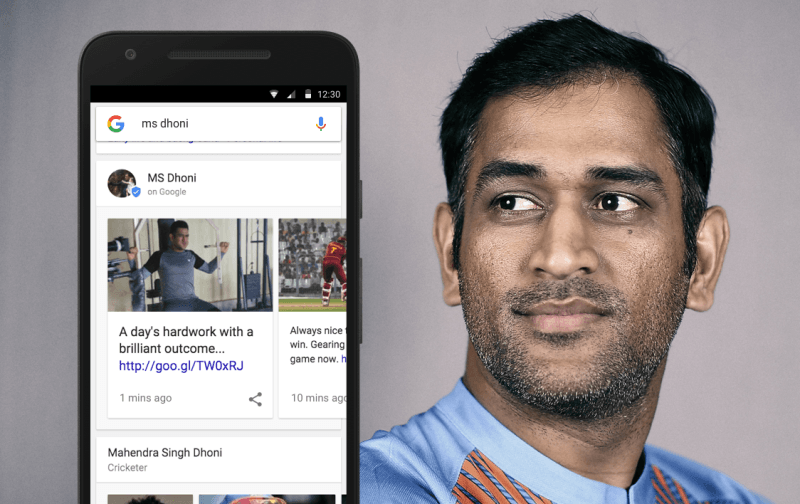 Google will now display posts directly from cricketers in search results