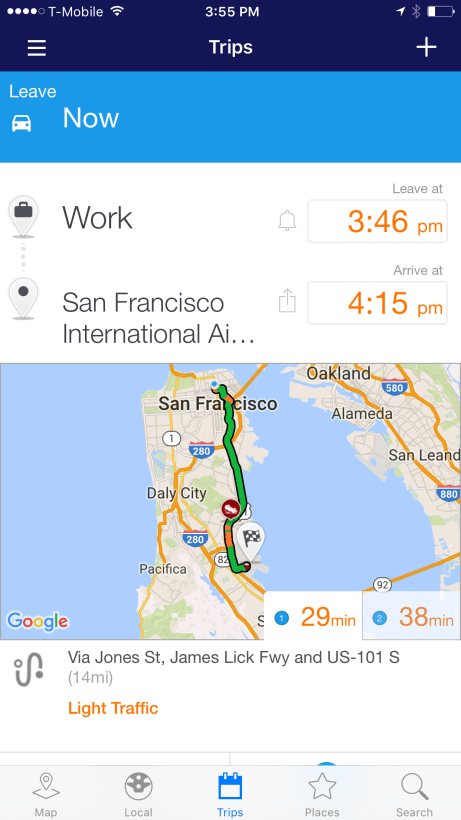 INRIX-Traffic-Trip-Planner
