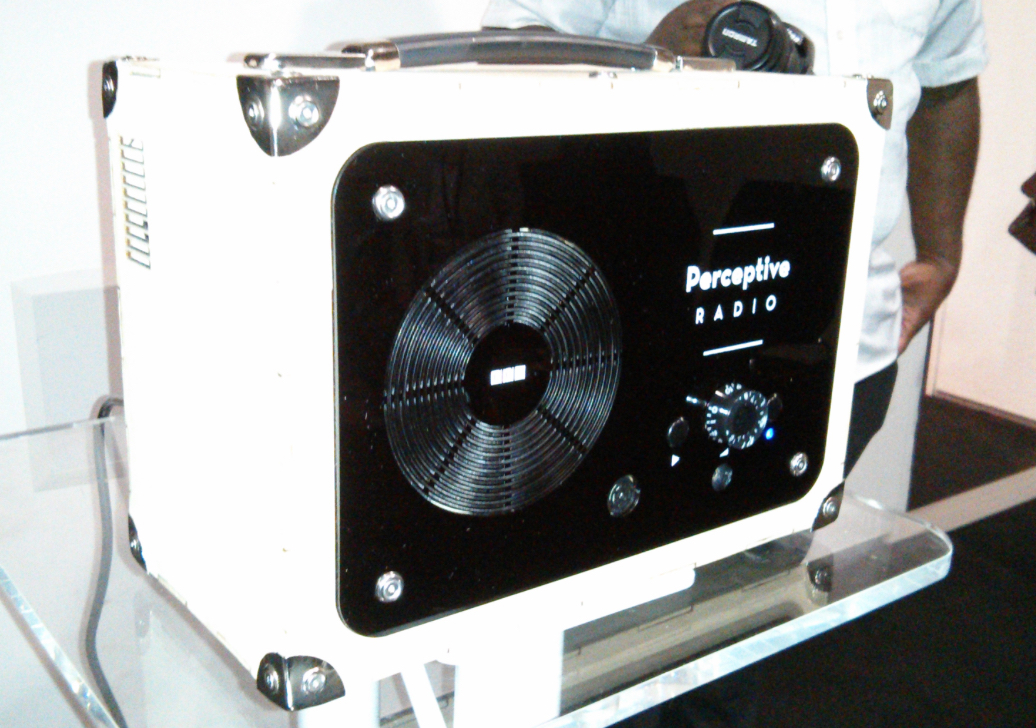 The original Perceptive Radio had retro stylings, thanks to a collaboration with a design agency.