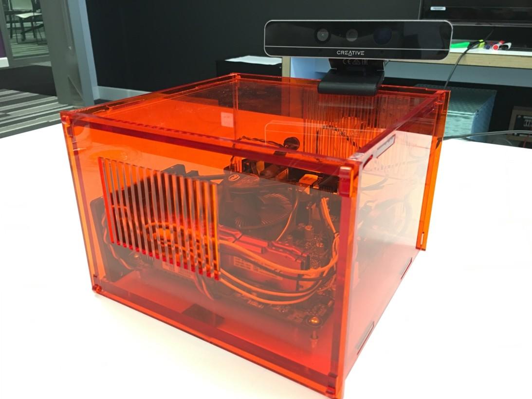 The second-generation experimental Perceptive Radio hardware.